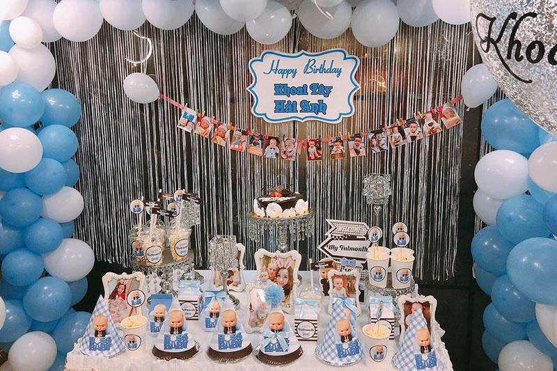"""Đặt tiệc sinh nhật ngoài trời bé trai theo phong cách """"hoạt hình"""" độc đáo"""